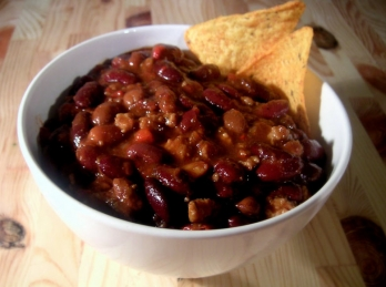 Chili and meat