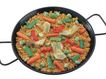 Vegetables spanish paella