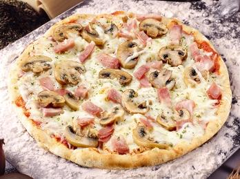 Mushroom homemade pizza