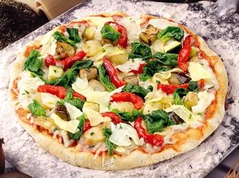 Mediterranean homemade pizza